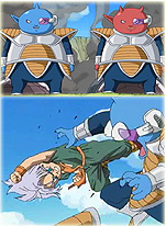 Abo and Kado battle Goten & Trunks