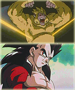 Vegeta SS4, transformed from the Super Saiyan Oozaru